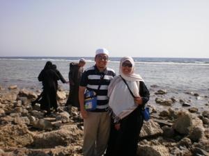 Sebelum pulang ke tanah air singgah jap di pantai Laut Merah