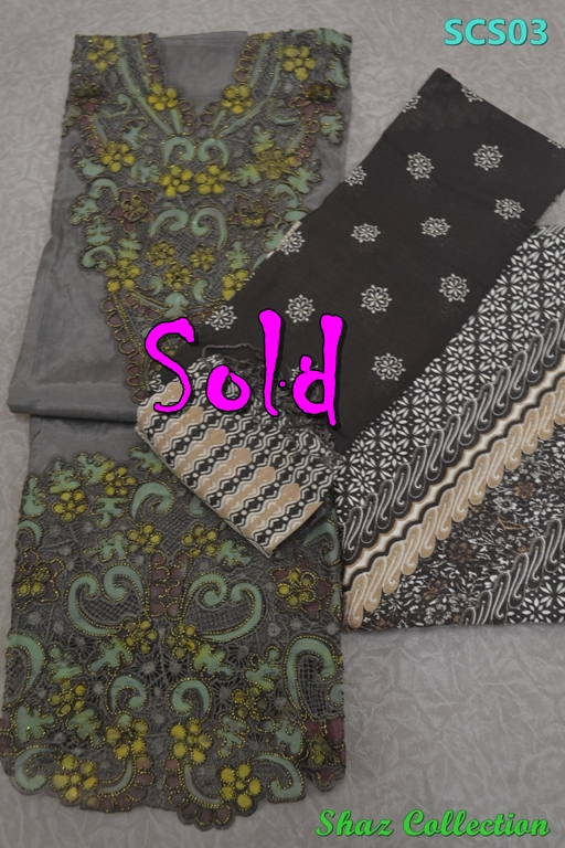 Kod: SCS06, Warna: Purple, Material: Kain atas - Cotton silk lembut